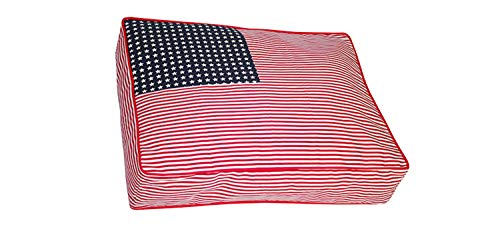 Iconic Pet Freedom Buster Beds, X-Large, Red/White/Blue