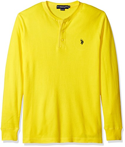 U.S. Polo Assn. Men's Long Sleeve Thermal Henley, Star Brite, Medium ()