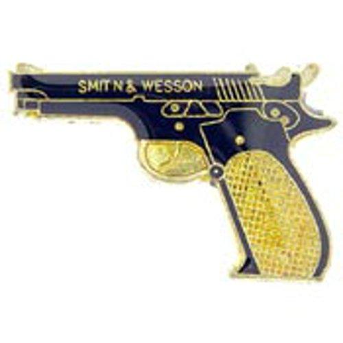 EagleEmblems P62622 Pin-Gun,38CAL Pistol,Blk (1.125'')