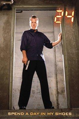 (Jack Bauer Kiefer Sutherland 24 Gun TV Poster 24 x 36)