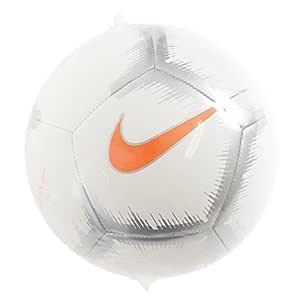 Nike Pitch - Balón de fútbol, 5, Blanco/Anaranjado: Amazon.es ...