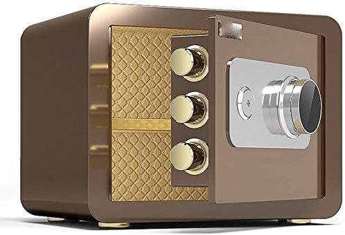 BZM-ZM SafesHousehold小型金庫、ブラウンスチール安全キャビネット、ホテルのOfficeのセキュリティストレージボックス、機械コードロック、25センチメートル、30センチメートル(サイズ:S)(カラー: - )