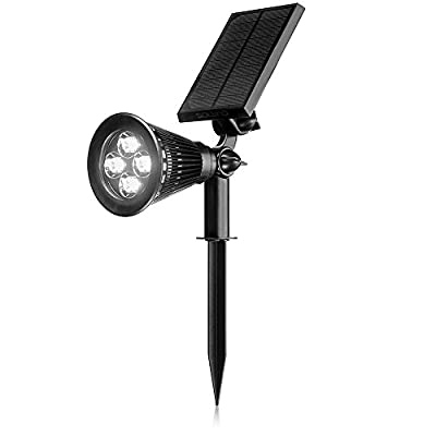 SOLVAO Solar Spotlight (Upgraded) - Ultra Bright, Waterproof, Outdoor LED Spot Light with Auto On/Off Function - Best Sun Powered 200 Lumen Uplight for Lighting Flag Pole, Landscape, Yard & Garden