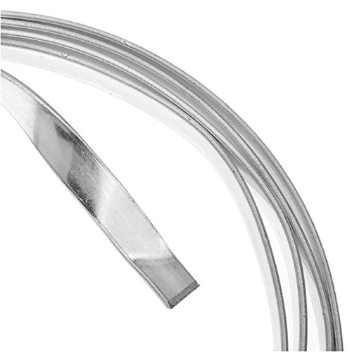 Artistic Wire 21-Gauge Tarnish Resistance Flat 5mm by .75mm, 3-Feet, Silver AWB-21F5-S10-03