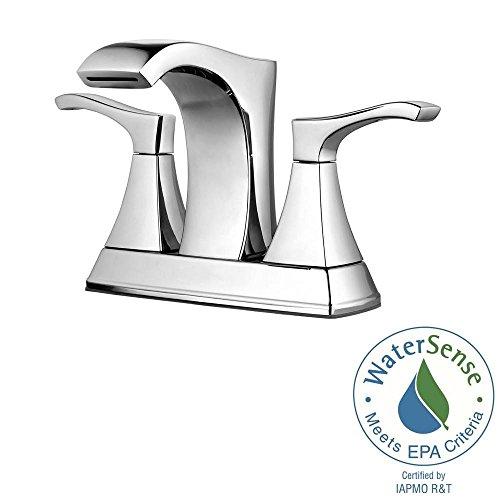 Pfister LF-048-VNCC Venturi 4 in. Centerset 2-Handle Bathroom Faucet in ()