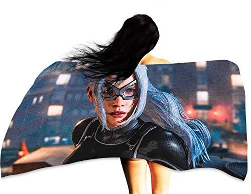 Customize Bath Towel Black cat Felicia Hardy Spiderman 37x74 inches ()