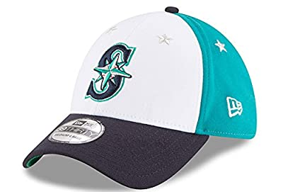 New Era Seattle Mariners All Star Game Patch Cap 39thirty Curved Visor S M MLB Limited Edition
