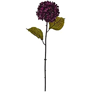 "Nearly Natural 2224-S6-PP 22"" Fall Hydrangea Flower (Set of 6) Artificial Plant Purple 119"
