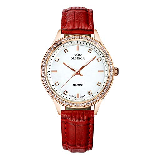OLMECA Women's Watch Wrist Watches Analog Quartz Waterproof Stainless Steel Mesh Band Simple Watch for Women