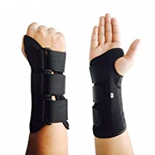 CFR Wrist Support Braces Hand Wraps with Removable Steel Splint for Carpal Tunnel, Tendonitis, Wrist Pain & Sports Injuries USPS Post