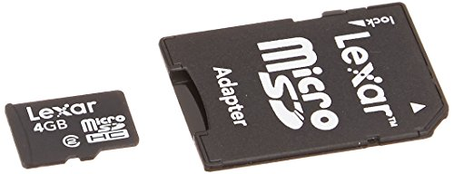 Lexar 4GB microSDHC Memory Card with microSD Adapter