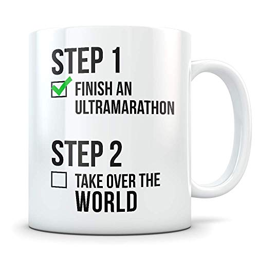 Ultra Marathon Gifts for Men and Women - Funny Marathoner Coffee Mug - Great Ultra-Marathon Gift Idea for Runners, Athletes, or First Timers (Gift Runners Under Ideas For $25)