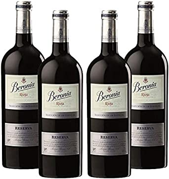Vino tinto Beronia 198 Barricas de 75 cl - D.O. La Rioja - Bodegas Gonzalez Byass (Pack de 4 botellas): Amazon.es: Alimentación y bebidas