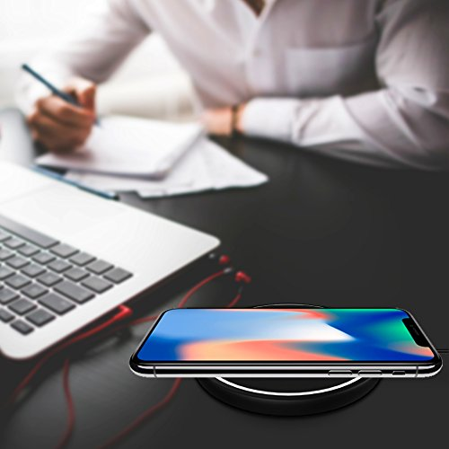 Large Product Image of iPhone X Wireless Charger Fast Qi Wireless Charging Pad Stand for Apple iPhone 8 iPhone 8 Plus Samsung Galaxy Note 8 S8 S8 Plus S7 S7 Edge Note 5 S6 Edge Plus with special LED light