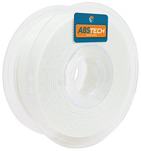 ABS Tech 1kg. White 1.75 mm Low warping A.B.S. Filament for 3D Printer