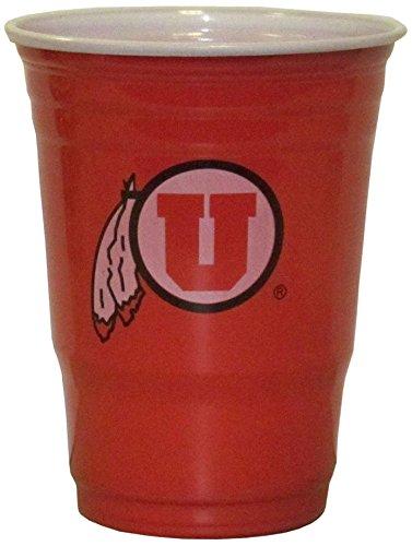 NCAA Utah Utes  Plastic Game Day Cups 2 Sleeves of 18 (36 Cups)