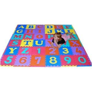 We Sell Mats 36 Sq Ft Alphabet and Number Floor Mat by We Sell Mats