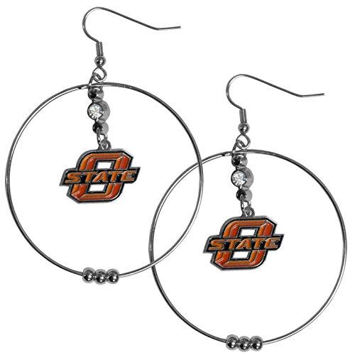 Siskiyou NCAA Oklahoma State Cowboys 2 inch Hoop Earrings - Oklahoma State Cowboys Gear