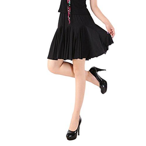 Women Latin Dance Skirt Salsa Tango Rumba Cha Cha Dancing Costume Dress w/Shorts ()