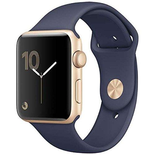 Apple Watch Series 2 42mm ゴールドアルミニウムケースとミッドナイトブルースポーツバンド MQ1J2J/A