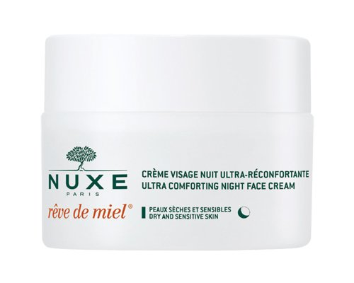 NUXE Rêve de Miel Ultra Comfortable Face Night Cream for Dry and Sensitive Skin, 1.5 oz