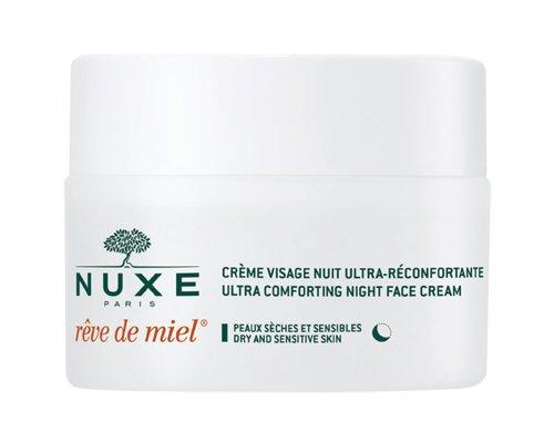 NUXE Rêve de Miel Ultra Comfortable Face Night Cream for Dry and Sensitive Skin, 1.5 oz -  U-SC-2253