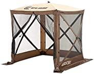 CLAM Quick-Set Traveler 6 x 6 Ft Portable Outdoor Camping Gazebo Canopy Shelter