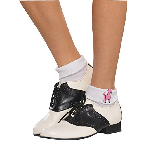 Fabulous '50s Costume Party Sock Hop Socks, White, Fabric, 1-Pair]()