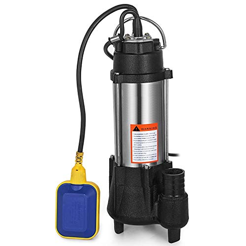 AB Submersible Heavy Duty Cast steel Sewage Pump 0.5HP Electric Removal for Clean Dirty Water Transfer With 20FT Cable & ()