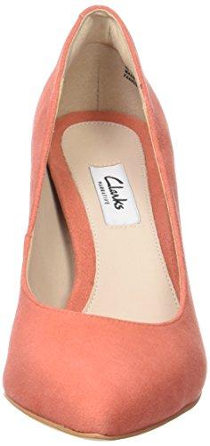 Clarks Women's Dinah Keer Closed-Toe Pumps Orange (Coral Suede) D15my