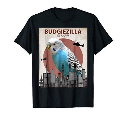 Mens Budgiezilla | Budgie T-Shirt for Budgerigar Parakeet Lovers 3XL Black