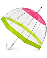 Totes Clear Bubble Umbrella (One Size, Clear/PearRose)