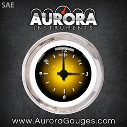Aurora Instruments GAR2104ZEXOABCC Pulsar Amber Clock Gauge