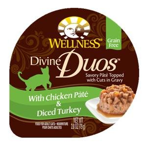 WELLPET-Wellness Divine Duos With Chicken P?t? & Diced Turkey 24/2.8oz by PetWell