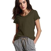 Escalier Women's Classic T-Shirt Round Neck Shirt Short Sleeve Tops