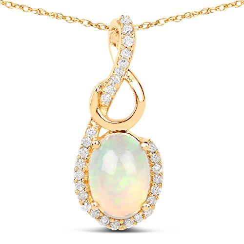14K Yellow Gold Ethiopian Opal