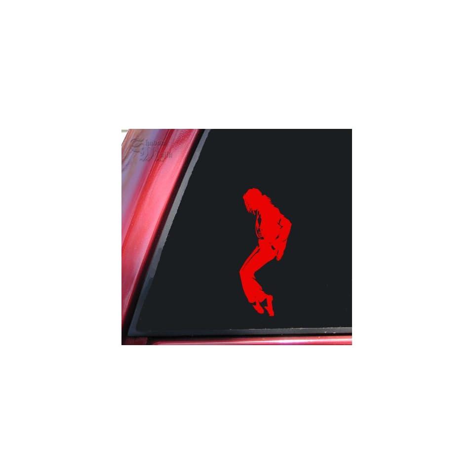 Michael Jackson Silhouette Vinyl Decal Sticker   Red
