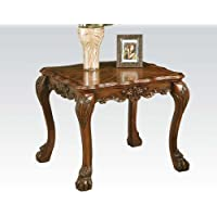 Acme 12166 Dresden End Table, Cherry Oak Finish