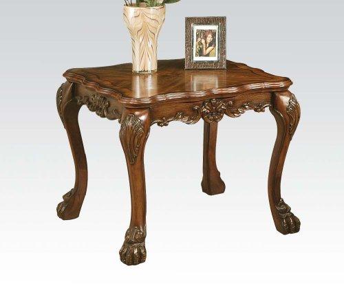 Acme 12166 Dresden End Table, Cherry Oak Finish