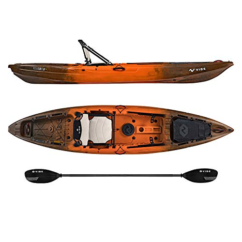 Vibe Yellowfin 120 Kayak Package (Wildfire – Journey Paddle)