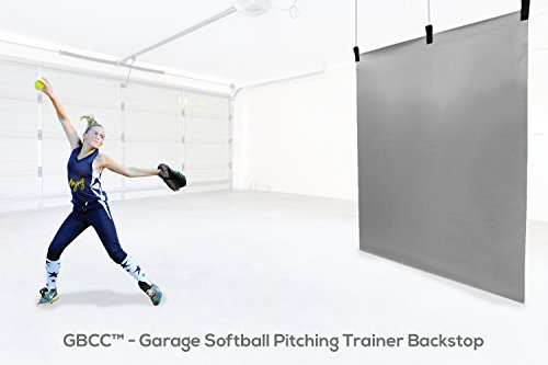 5 x 6 Softball Pitching Trainer Backstop Vinyl - Garage & Basement Trainer (Gray)