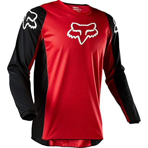 Youth Off Road Mens Jerseys - 2020 Fox Racing Youth 180 Prix Jersey-Flame Red-YS
