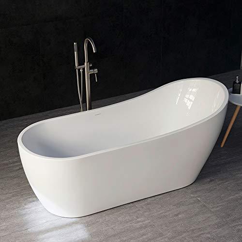 """WOODBRIDGE B-0001 WHITE Freestanding Bathtub B-0001/BTA1508, 67"""""""