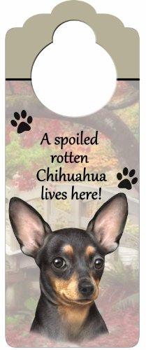 E&S Pets Chihuahua Pet Doorknob Note