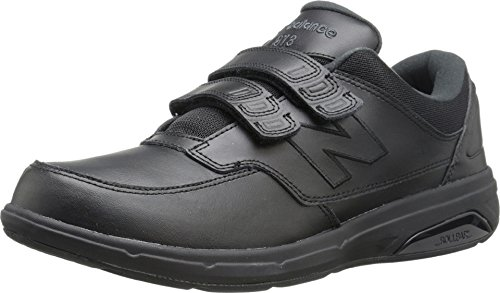 New Balance Men's MW813V1 Hook and Loop Walking Shoe, Black, 9.5 D US