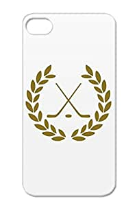 TPU Hokey Symbols Shapes Icehockey League Icehokey Ice Hockey Nhl Brown Protective Case For Iphone 4/4s Scratch-resistant Deluxe