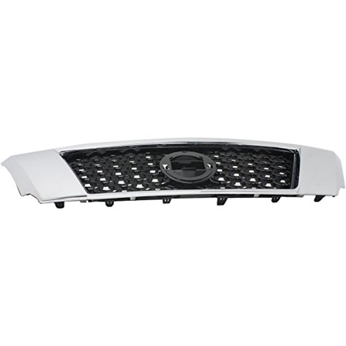 New Front Grille For 2013-2016 Nissan Pathfinder Fits Models Without Around-View Monitor, Except Hybrid, Made Of Abs NI1200254 623103KA0A
