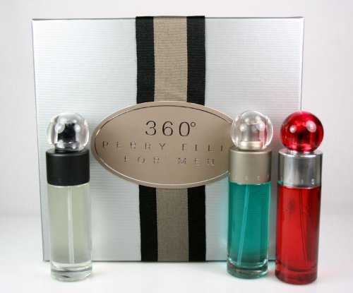 Perry Ellis 360 Cologne Gift Set For Men (3 x 1oz Eau De Toilette Spray)