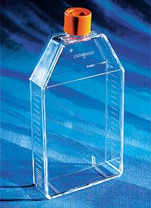 - Corning 430823 Polystyrene 210mL Rectangular Canted Neck Cell Culture Flask with Orange HDPE Plug Seal Cap (Case of 50)