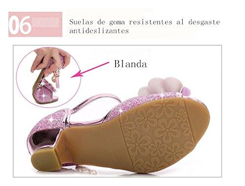 99f9f8be5a ... YOGLY Sandalias Para Niñas 2018 Verano Niña Princess Crystal Zapatos  con Tacón Lentejuelas Brillantes Zapatos de ...